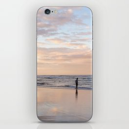 The beach at sunset iPhone Skin