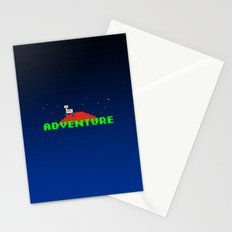 8-Bit Adventure On Mars Stationery Cards
