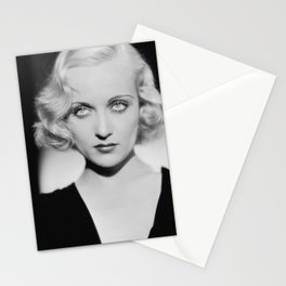 Carole Lombard classic black and white photograph Stationery Cards