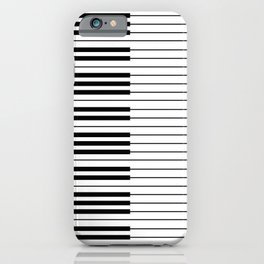 The Piano Black and White Keyboard iPhone Case