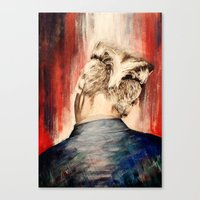 kpop Canvas Prints featuring shadow at evening rising by Jordana Clarke