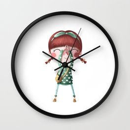 A de Tina Wall Clock