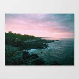 Sunset at Portland Head Canvas Print
