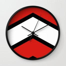 Chevron Austria Flag Colors Wall Clock