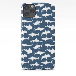 Sharks on Regal Blue iPhone Case