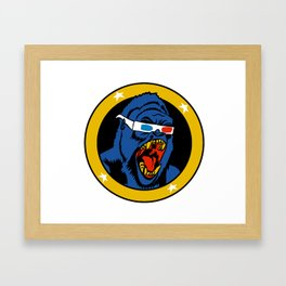 Action 3D Comic Gorilla Framed Art Print