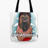 chewbacca Tote Bags featuring CHEWBACCA by Morbix