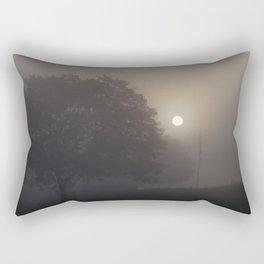 Poking Thru The Fog Rectangular Pillow