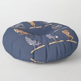 American Pit Bull Terrier Yoga Floor Pillow