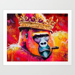 KING--GORILLA Art Print