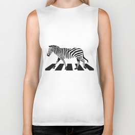 Zebra Crossing Biker Tank