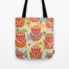 Mid Century Modern Butterfly Garden 201 Tote Bag