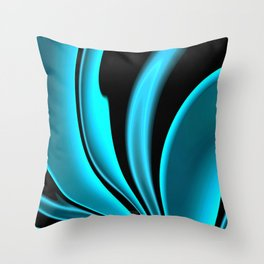 Abstract Fractal Colorways 02 Pacific Blue Throw Pillow