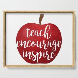 Teach Encourage Inspire Serving Tray