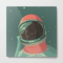 Ground Control to Major Tom Bowie Astronaut Design Metal Print