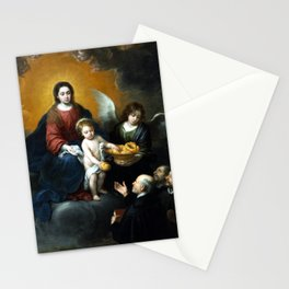 Bartolomé Esteban Murillo The Infant Christ Distributing Bread to the Pilgrims Stationery Cards