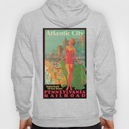 Atlantic city vintage bathing beauty Hoody