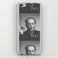 jack nicholson iPhone & iPod Skins featuring Jack / Nicholson by Earl of Grey
