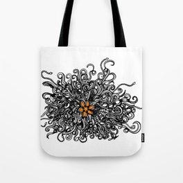 Burst of Swirls Doodle Tote Bag