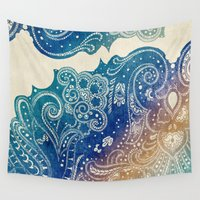 princess Wall Tapestries featuring Mermaid Princess  by rskinner1122