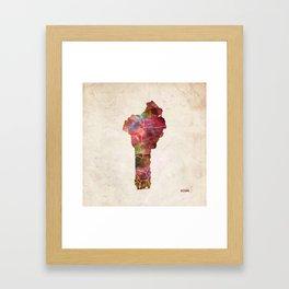 Benin map Framed Art Print