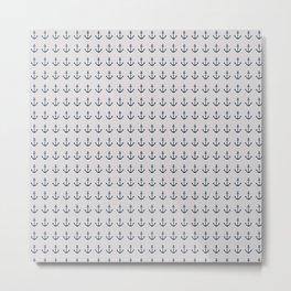 Anchor pattern Metal Print