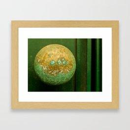 Door Knob Framed Art Print