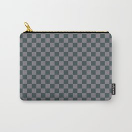 Checkerboard Pattern Inspired By Night Watch PPG1145-7 & Magic Dust Purple PPG13-2 Carry-All Pouch