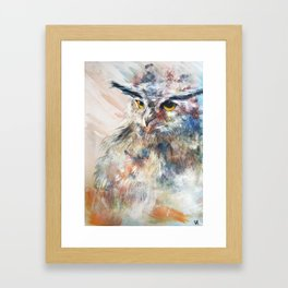 Owl Flow Framed Art Print