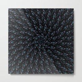 Fractal Ice Flower Pattern Metal Print