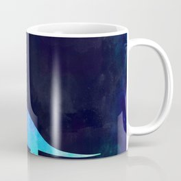 BRACHIOSAURUS IN SPACE // Animal Graphic Art // Watercolor Canvas Painting // Modern Minimal Cute Coffee Mug