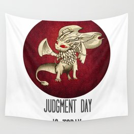 Judgment Dragon inspired card Wall Tapestry