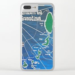 St. Vincent & Grenadines Sailing Map Clear iPhone Case