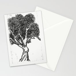 Tree Ink Print Stationery Cards