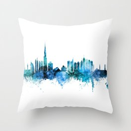 Dubai Skyline Throw Pillow