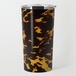 Art Deco polished Tortoise Shell Travel Mug