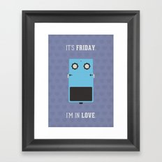 It's Friday! Framed Art Print