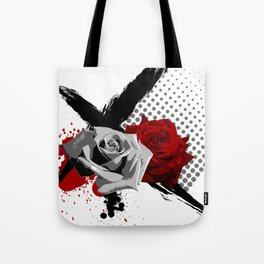 Trash Polka Roses Tote Bag