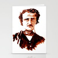 edgar allen poe Stationery Cards featuring Poe by Doug Slack