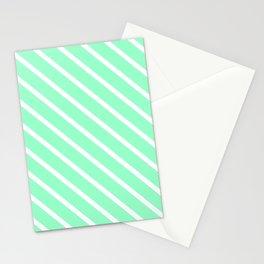 Mint Julep #2 Diagonal Stripes Stationery Cards
