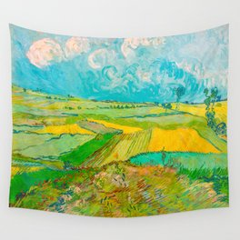 Wheat Fields after the Rain (The Plain of Auvers), July 1890 Oil Painting by Vincent van Gogh Wall Tapestry