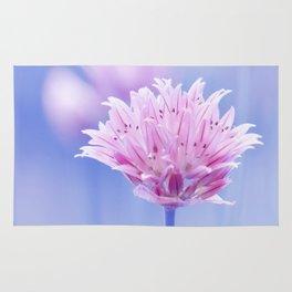 Allium pink macro 087 Rug