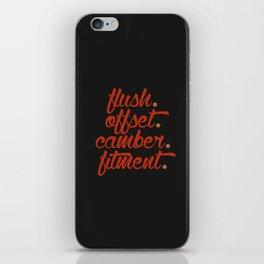 flush offset camber fitment v1 HQvector iPhone Skin