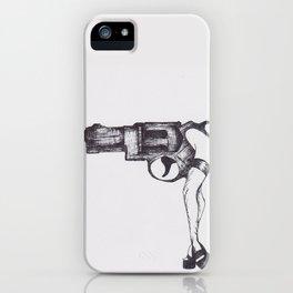 Shot Gun Pin Up iPhone Case