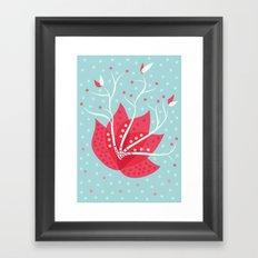 Exotic Winter Flower Framed Art Print