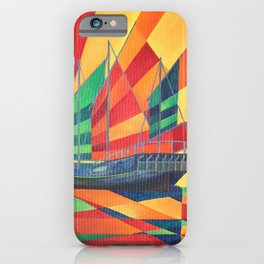 Sail Away Junk Pleasure Boat iPhone Case
