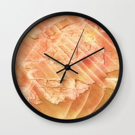 Sandy brown vague watercolor Wall Clock