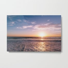 Sunset Surfers III Metal Print