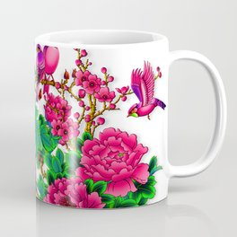 Wonderful Birds on Branches Wind flowers Coffee Mug