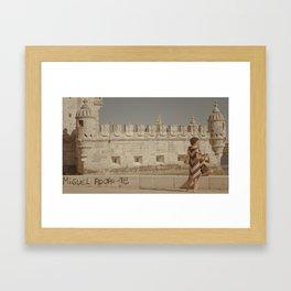 Miguel Belem Tower Lisbon Framed Art Print